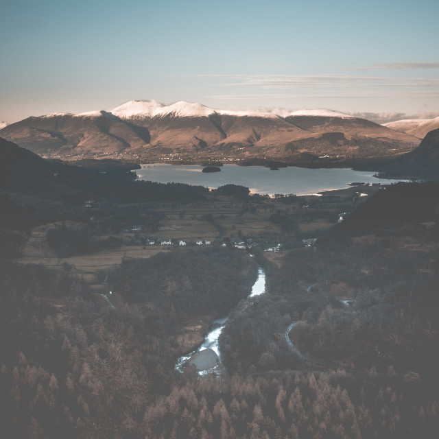 """""""View From Castle Crag"""" stock image"""