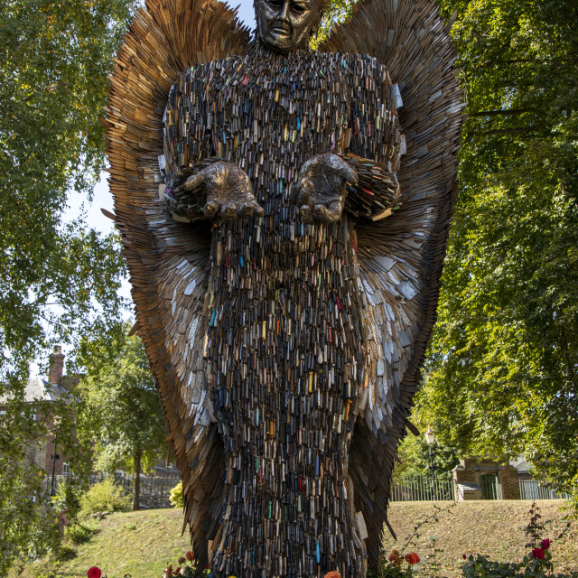 """The Knife Angel"" stock image"