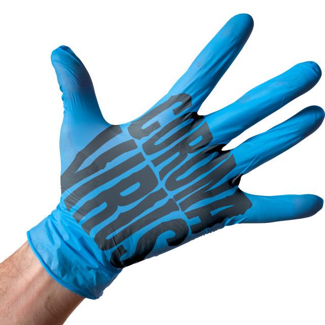 """""""Coronavirus Medical Glove"""" stock image"""