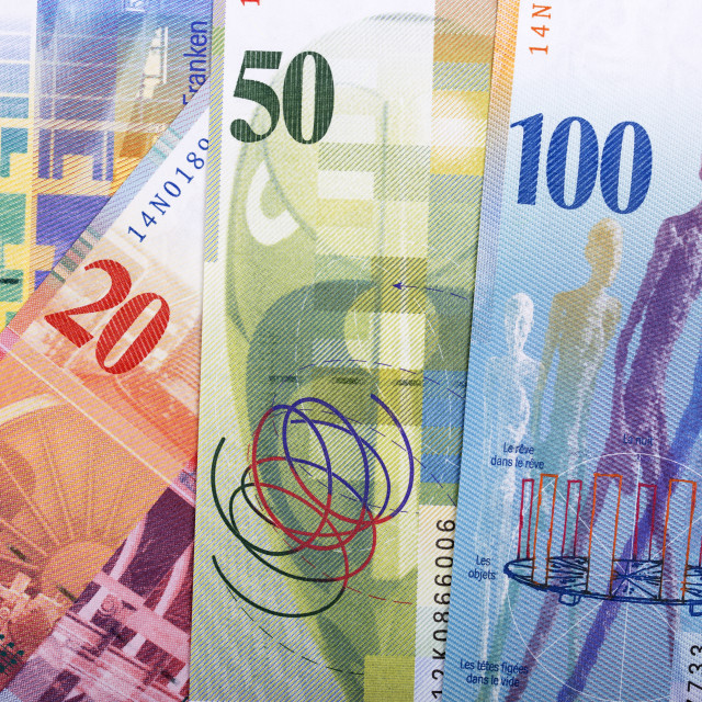 """Swiss money a business background"" stock image"