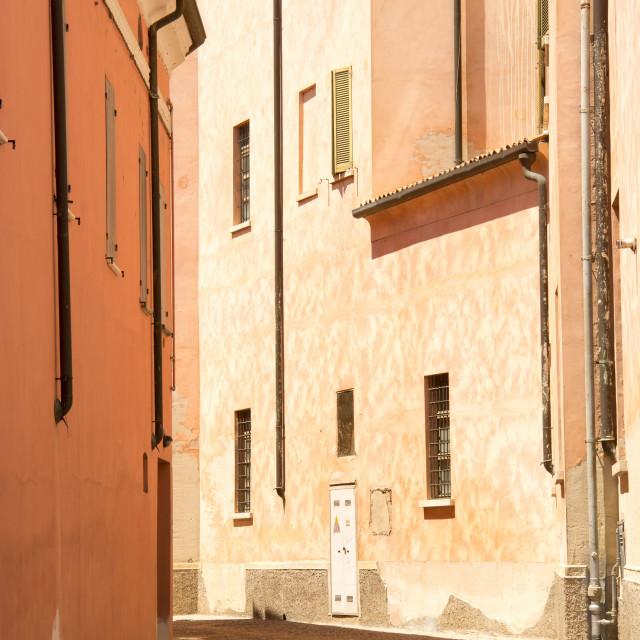 """""""Street in Mantova"""" stock image"""