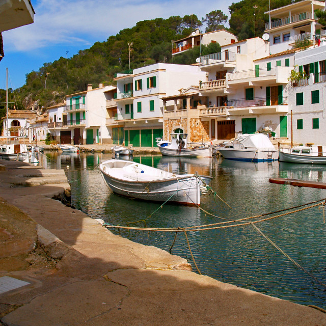 """""""Cala Figuera Harbour"""" stock image"""