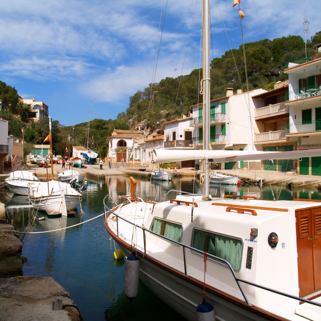 """""""Cala Figuera, Inlet and Harbour"""" stock image"""