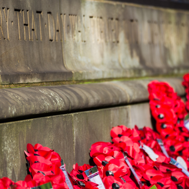 """""""Poppy wreathes at Liverpool cenotaph"""" stock image"""