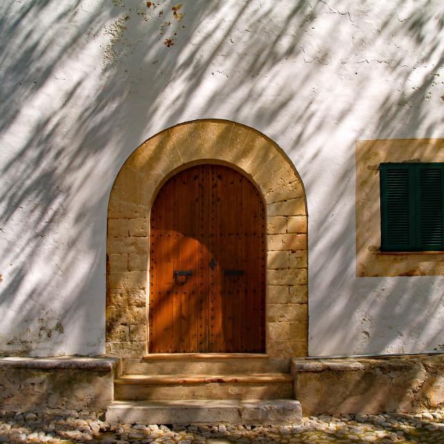 """""""Door and Window, Alfabia"""" stock image"""