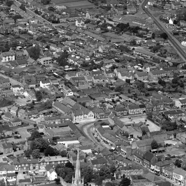 """""""Whittlesey Townscape (1984)"""" stock image"""