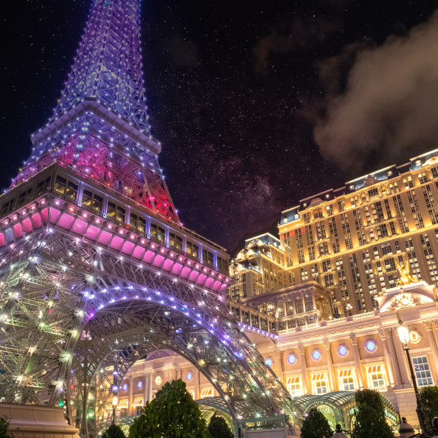 """Eiffel Tower at the Parisian Macau // Macau, China"" stock image"