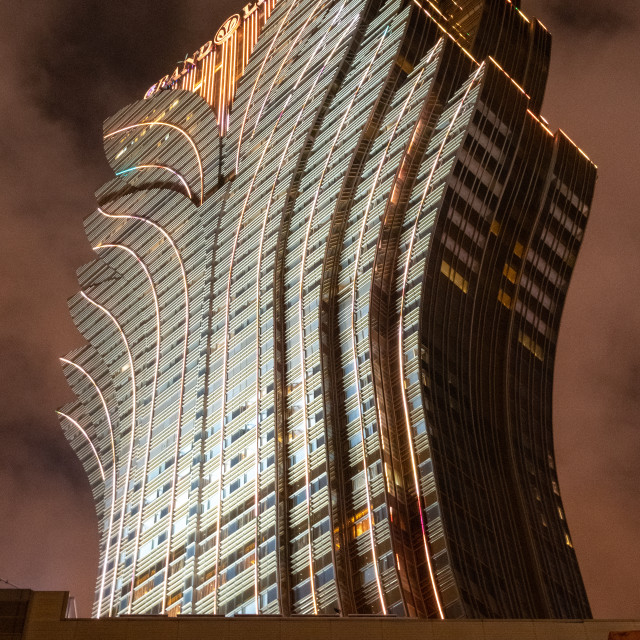 """Iconic and Flamboyant Grand Lisboa // Macau, China"" stock image"