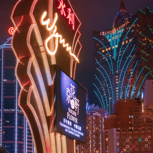 """Casino Heaven // Macau, China"" stock image"