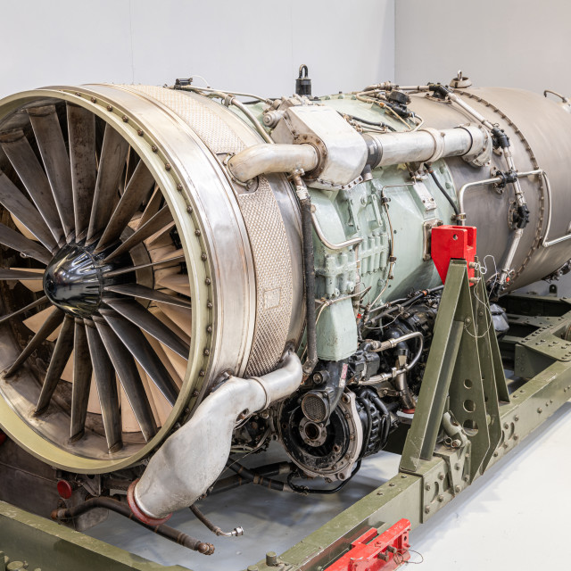 """Conway Jet Engine, RAF Museum, Cosworth"" stock image"