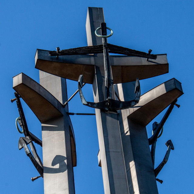 """""""Monument to the Fallen Shipyard Workers of 1970 Gdansk, Poland"""" stock image"""