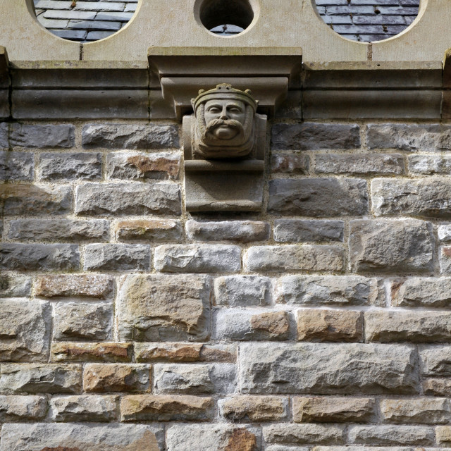 """""""Clyne Chapel carved head"""" stock image"""