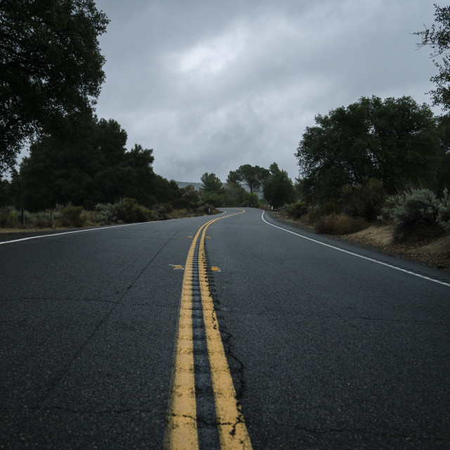 """""""Lonely Road"""" stock image"""