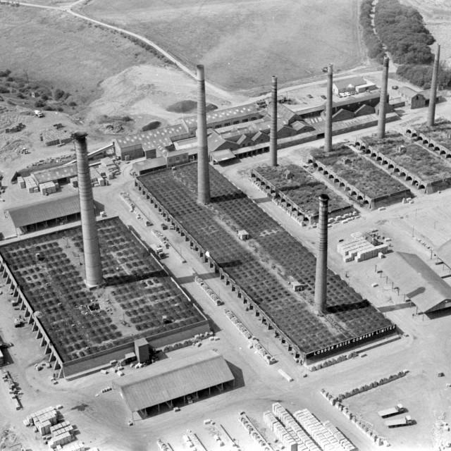 """Beebys Brickworks, Yaxley (1981)"" stock image"