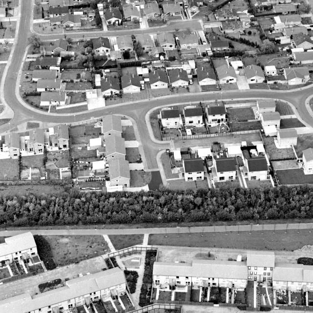 """""""Overton Way, Orton Waterville (1982)"""" stock image"""