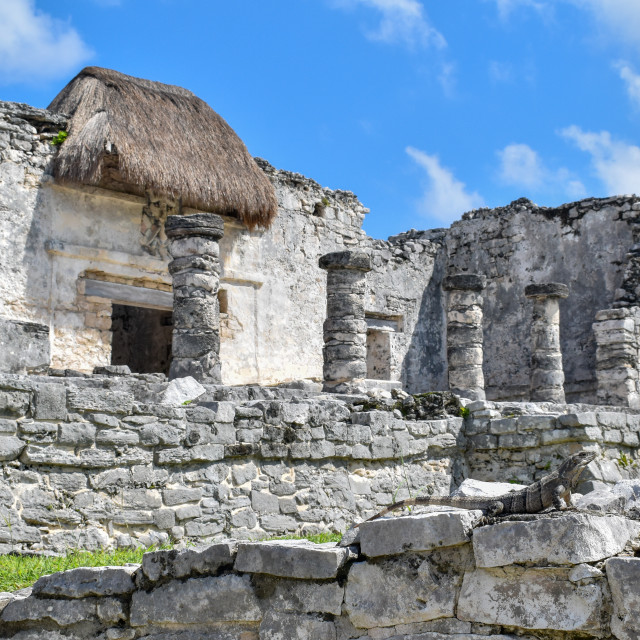 """Mayan ruins in Tulum, Quintana Roo"" stock image"
