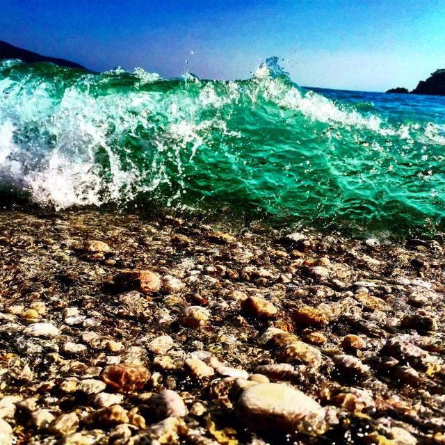 """""""Crashing Waves Of Summer"""" stock image"""