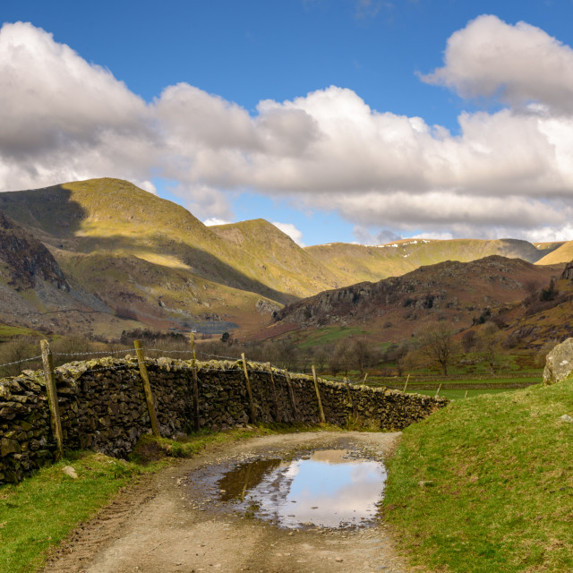 """""""Kentmere From Overend"""" stock image"""