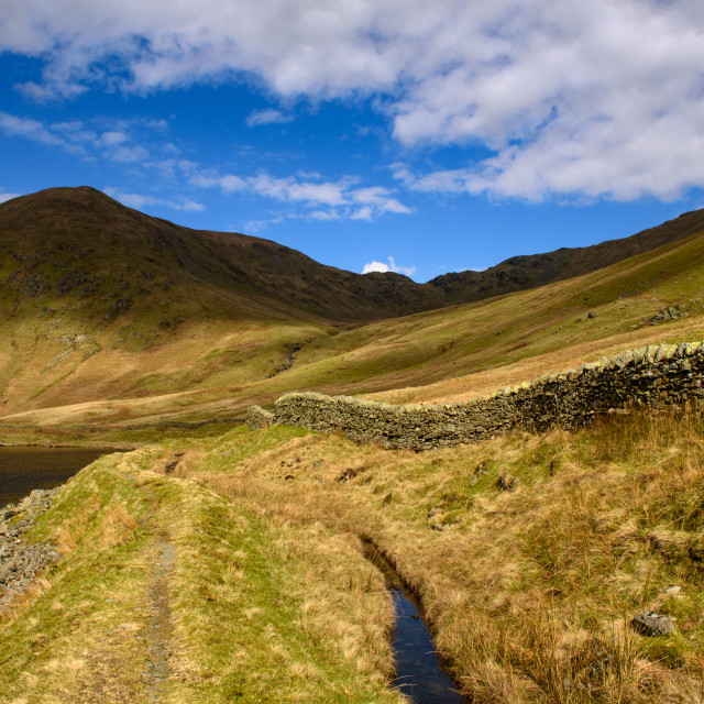 """""""Lingmell End from Kentmere Reservoir"""" stock image"""