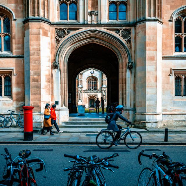 """Corpus Christi College, University of Cambridge UK."" stock image"