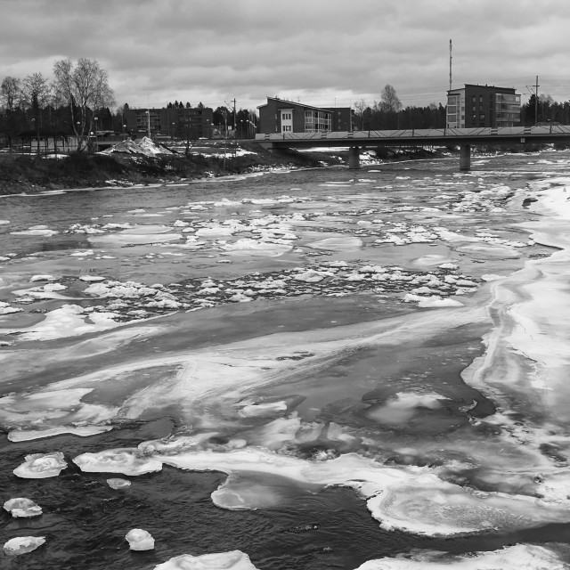 """""""Ice Melting On The River"""" stock image"""