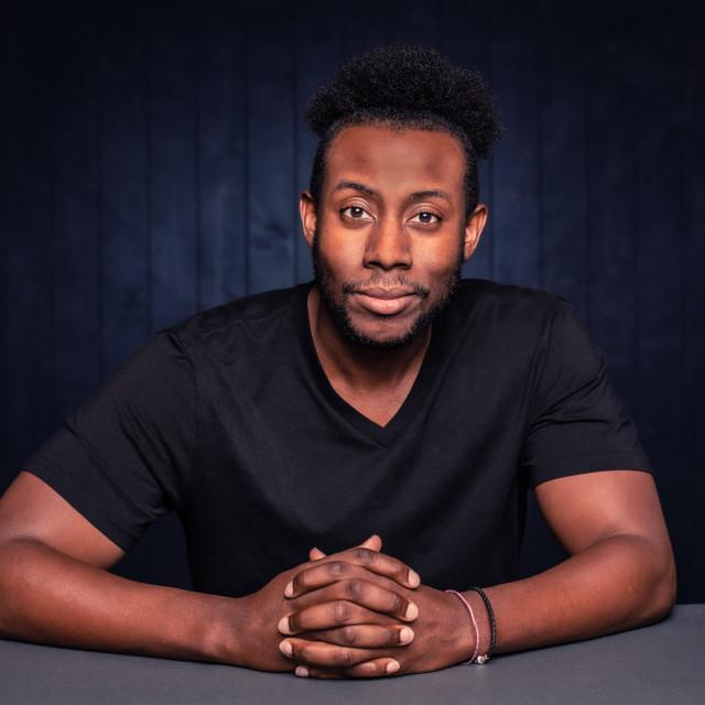 """Handsome Black Man"" stock image"