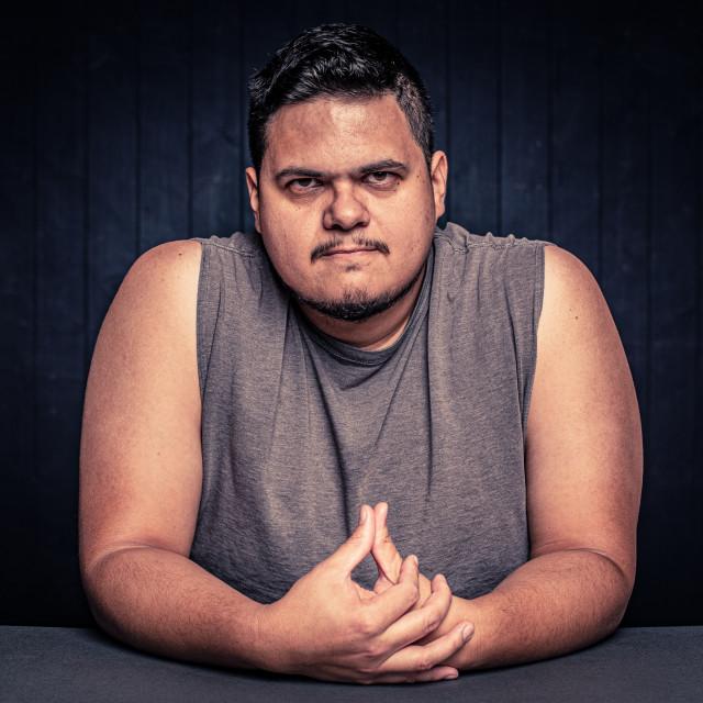 """""""Angry Latino Man"""" stock image"""