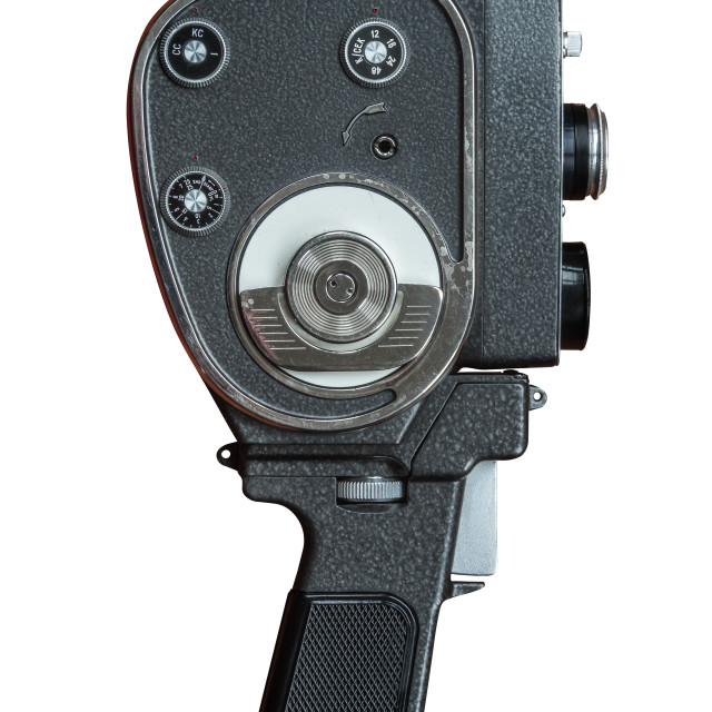"""Isolated Vintage Super 8 Film Camera"" stock image"