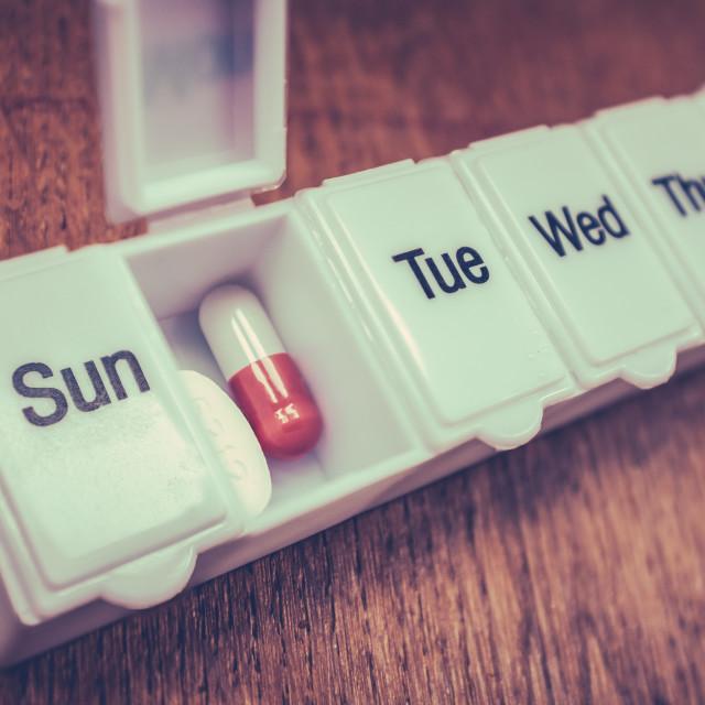 """Seven Day Pill Box"" stock image"