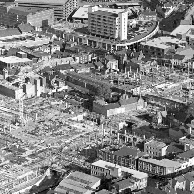 """""""Queensgate and City Centre (1979)"""" stock image"""