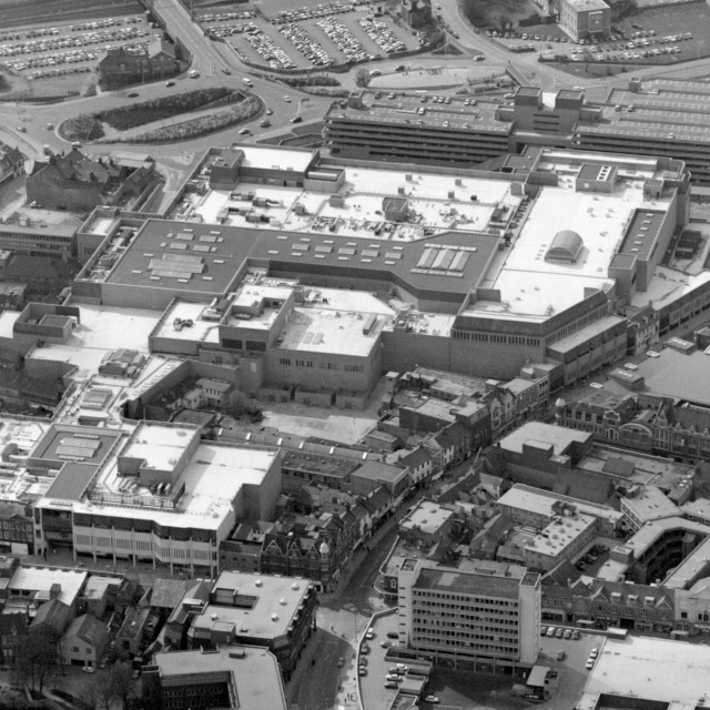 """""""Queensgate and City Centre (1982)"""" stock image"""