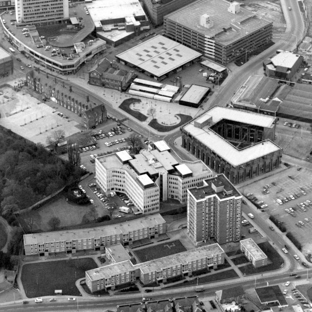 """""""City Road and City Centre (1982)"""" stock image"""