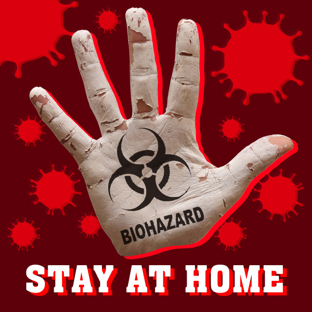 """palm virus biohazard"" stock image"