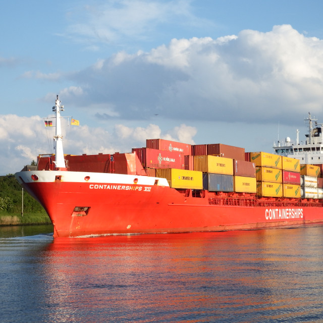"""""""CONTAINERSHIPS VII"""" stock image"""