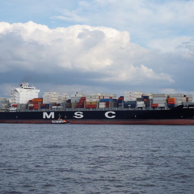 """MSC MADRID"" stock image"