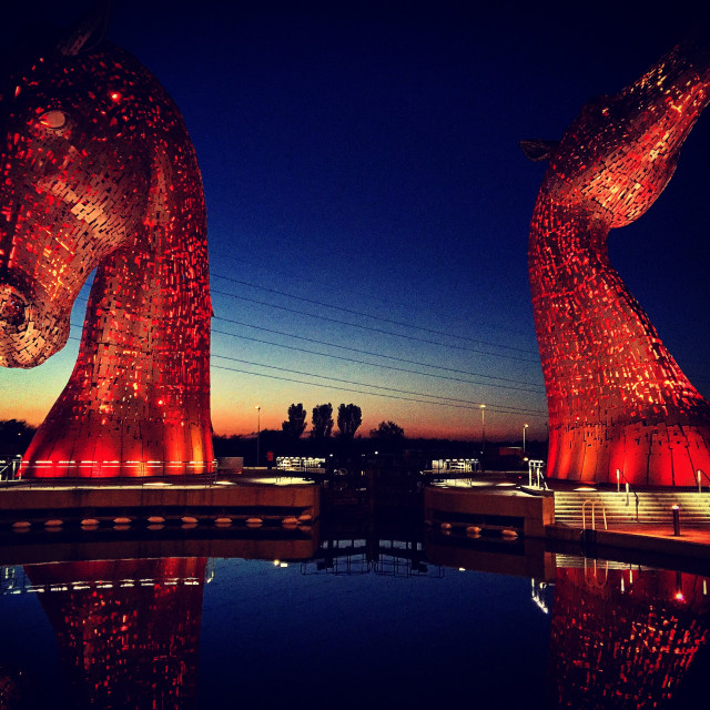 """""""The Kelpies in colour"""" stock image"""