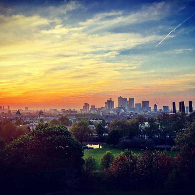 """""""Greenwich Sunset"""" stock image"""