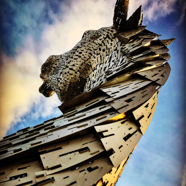 """Kelpie Sculpture Rear View"" stock image"