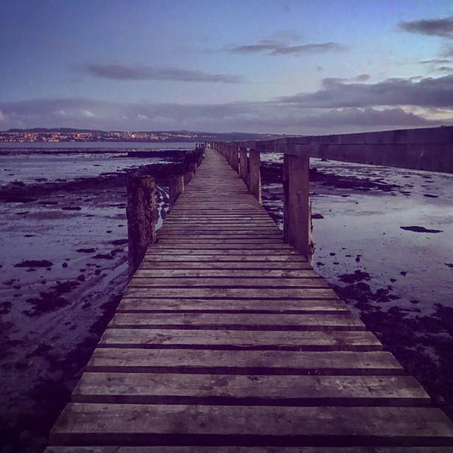 """Culross Pier"" stock image"