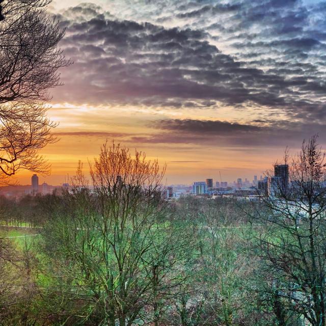 """Moody Greenwich London Sky"" stock image"