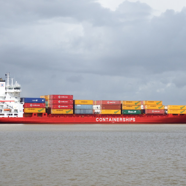 """""""CONTAINERSHIPS VIII"""" stock image"""