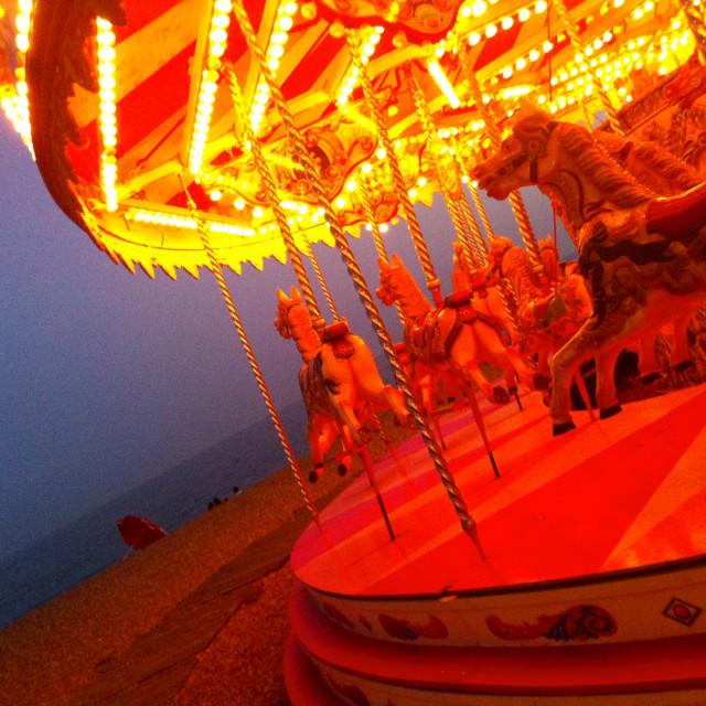 """Brighton Beach Carousel"" stock image"