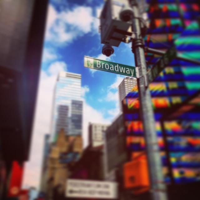 """Broadway in focus"" stock image"
