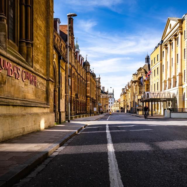 """""""Downing Street Cambridge UK."""" stock image"""