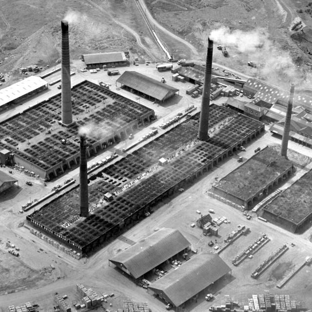 """Beebys Brickworks, Yaxley (1982)"" stock image"