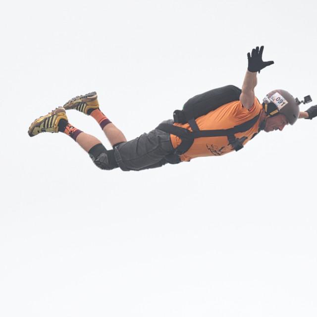 """""""BASE jump event at KL Tower Kuala Lumpur"""" stock image"""