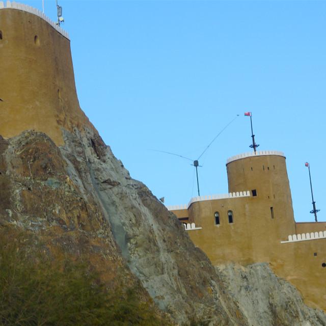 """Views of Mutrah Fort"" stock image"