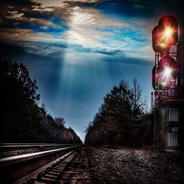 """Beautiful railroad tracks"" stock image"