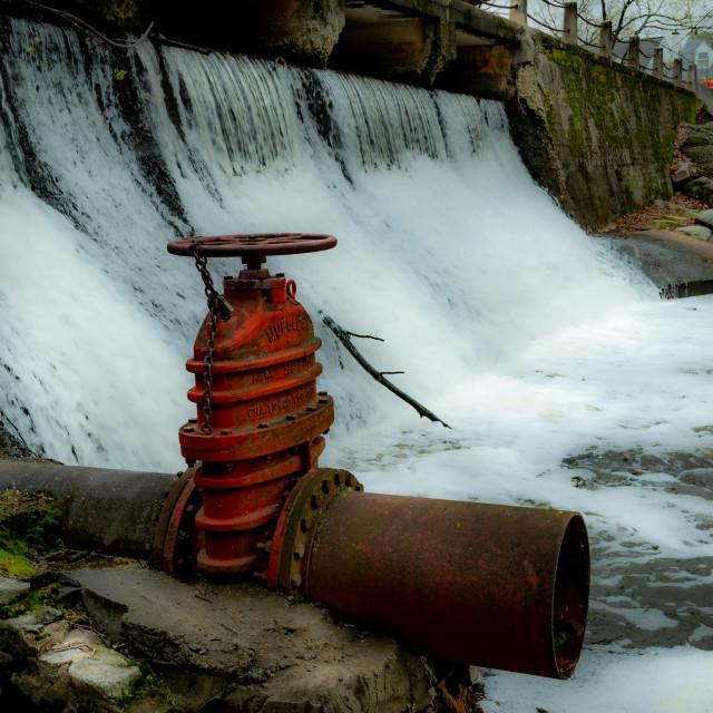 """Waterfall at park"" stock image"