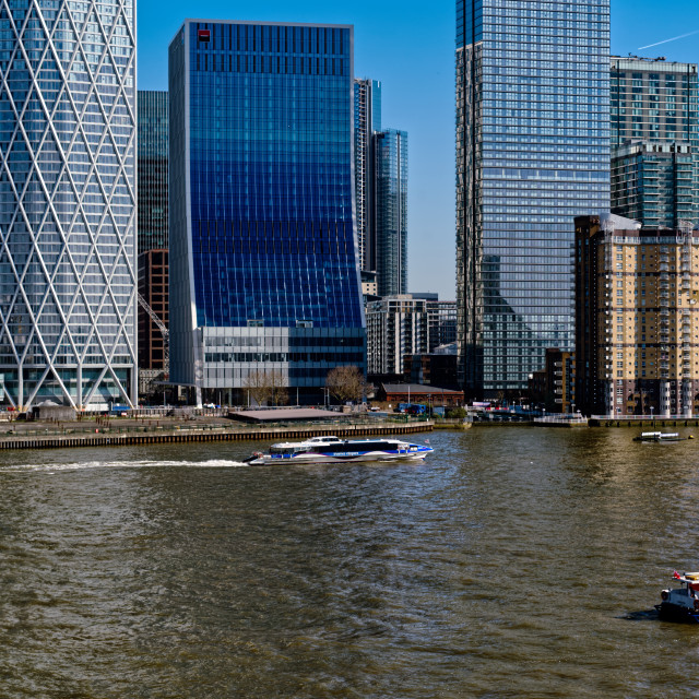 """Thames TFL River Boat Services"" stock image"
